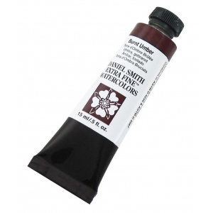 Daniel Smith Extra Fine™ Watercolor 15ml Burnt Umber: Brown, Tube, 15 ml, Watercolor, (model 284600011), price per tube