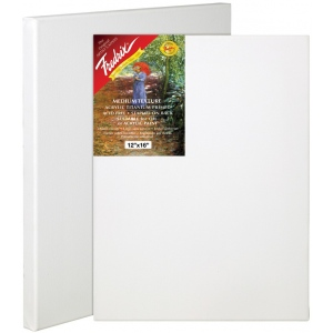 "Fredrix® Artist Series Red Label 18 x 18 Stretched Canvas: White/Ivory, Sheet, 18"" x 18"", 11/16"" x 1 9/16"", Stretched, (model T5055), price per each"