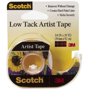 "Scotch® Low Tack Artist Tape: Artist, 3/4"", (model FA2020), price per roll"