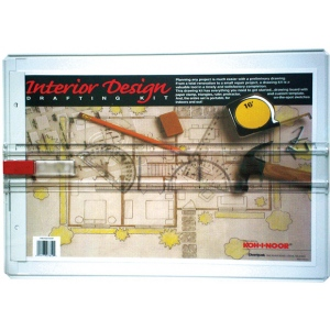 "Koh-I-Noor® Interior Design Drafting Kit; Color: Brown; Size: 13"" x 18 1/2""; Type: Drawing Board; (model 522130INT), price per each"