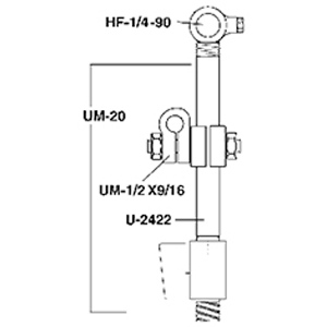 Paasche UM-9 Mounting Assembly for Models A-Au, A-Bu, A-Cu Or F87
