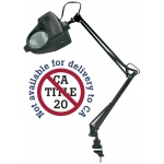 "Alvin® 1.75x Swing-Arm Magnifier Lamp Black: 4"", Swing-Arm, 26-75w, (model ML100-B), price per each"