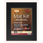 "Heritage Arts™ Standard Series 16"" x 20"" Pre-Cut Double Layer Black Mat Kit; Color: Black/Gray; Format: Frame; Material: Pre-Cut Mat Board; Size: 16"" x 20""; Thickness: 1/8""; Type: Presentation Board; (model H1620SDB), price per each"