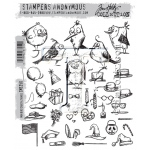 Stampers Anonymous - Tim Holtz - Mini Bird Crazy & Things Stamps