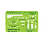 "Alvin® Accident Report Template; Color: Green; Size: 4"" x 2 5/8"" x .030""; Type: General Purpose; (model TD100), price per each"