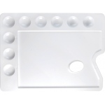 "Heritage Arts™ Rectangular Plastic Palette 11 3/4 x 8 3/4; Material: Plastic; Quantity: 9 Wells; Shape: Rectangle; Size: 8 3/4"" x 11 3/4""; (model CW167), price per each"