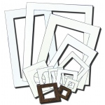"Inovart Picture-It White Pre-Cut Art/Presentation 9"" X 12"" Mat Frames - 12 per pack"