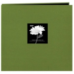 "Pioneer® 12 x 12 Fabric Frame Scrapbook Herbal Green; Color: Green; Material: Fabric; Page Count: 10 Page Protectors; Size: 12"" x 12""; (model MB10CBFN/HG), price per each"