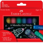 Faber-Castell® Gel Sticks 6-Color Metallic Set: Multi, Stick, (model FC14542), price per set
