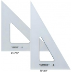 "Alvin® 10"" & 12"" Transparent Triangle Set; Angle: 30/60, 45/90; Size: 10"", 12""; Type: Triangle; (model AS1012), price per set"