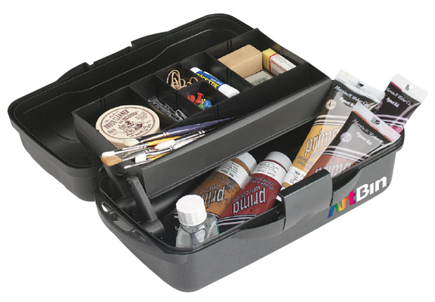"Artbin Essentials 1 Tray Box: Black, 15"" x 8.25\"" x 6.5\"""