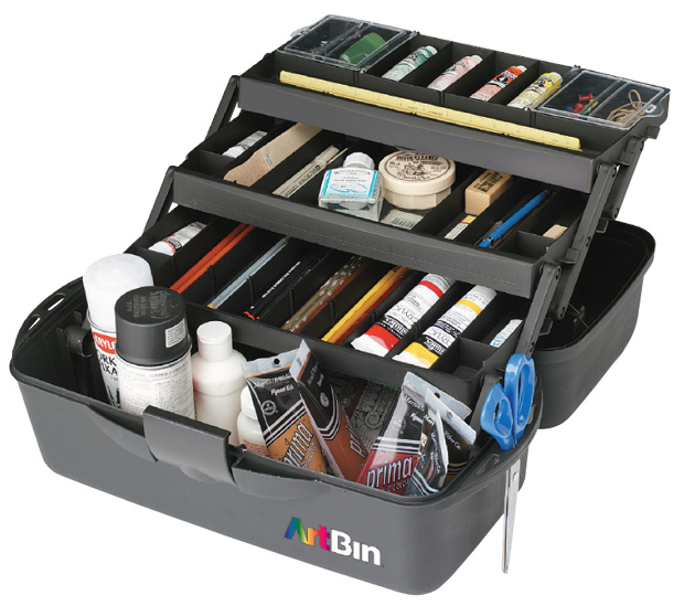 "Artbin Essentials 3 Tray : XL, Black, 20"" x 10.25\"" x 10.37\"""