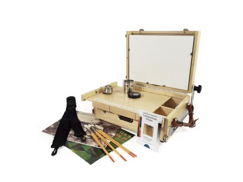 Guerilla Painter Hinged Front Guerrilla Box™ Oil & Acrylic Plein Air Kit: 9 x 12