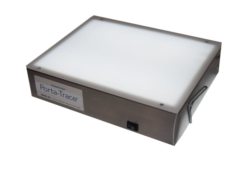 "Gagne Porta-Trace Light box: 10"" x 12"", Stainless Steel Frame, One LED Lamp"