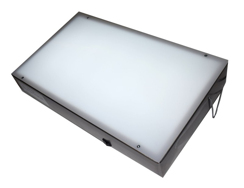 "Gagne Porta-Trace Light box: 11"" x 18"", Stainless Steel Frame, Two LED Lamps"