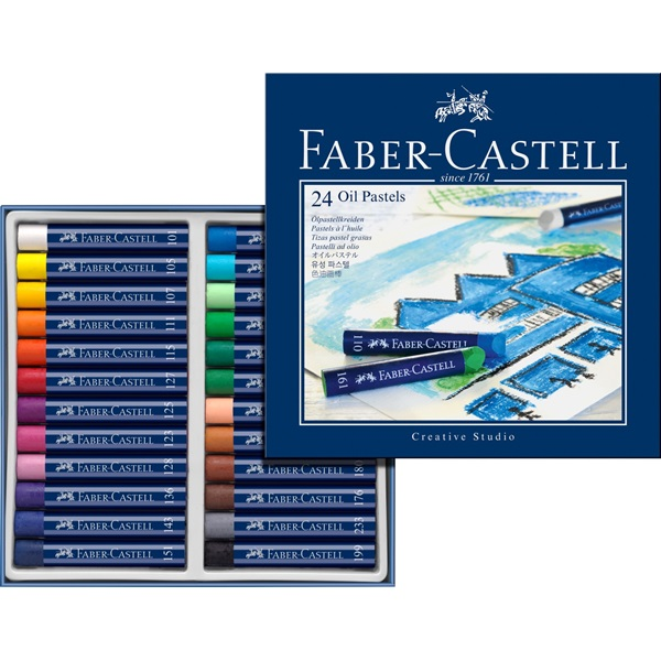 Faber-Castell Creative Studio Oil Pastel: Cardboard, Box of 24