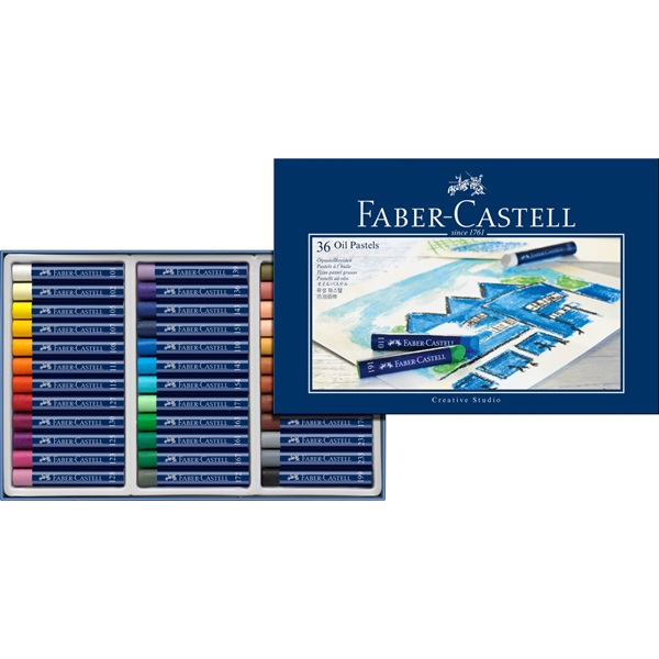 Faber-Castell Creative Studio Oil Pastel: Cardboard, Box of 36