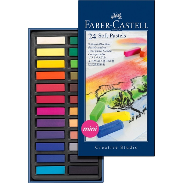 Faber-Castell Studio Quality Mini Soft Pastel: Cardboard Box of 24