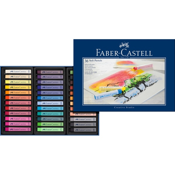 Faber-Castell Creative Studio Soft Pastel: Cardboard Box of 36