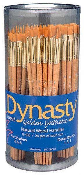Dynasty B400 Canister Series Flat Shader And Detail Round Brush Assortment