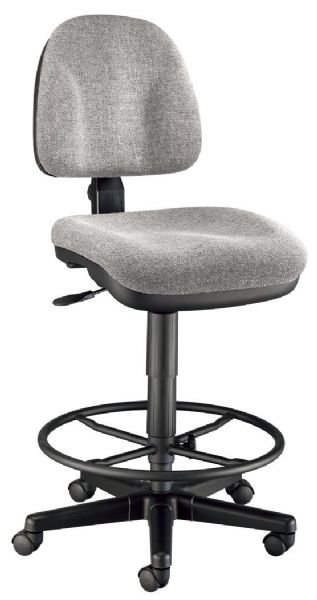 Alvin Medium Gray Premo Drafting Height Ergonomic Chair