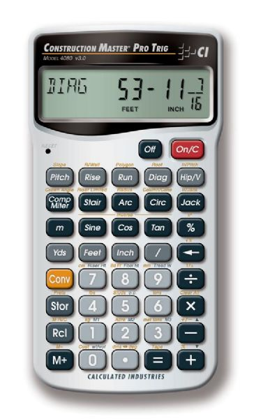 Calculated Industries Construction Master® Trig Calculator