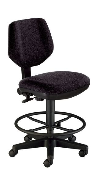 Alvin Black Comfort Classic Deluxe Drafting Height Task Chair