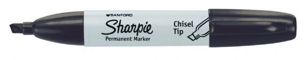 Chisel Point Permanent Marker Black