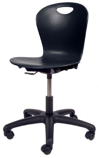 "Virco Zuma® 16"" - 20 1/2"" Black Task Chair"