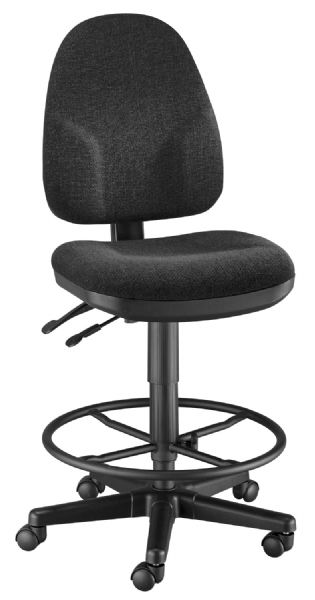 Alvin Black High Back Drafting Height Monarch Chair