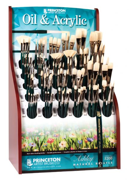 Princeton Good Chinese Bristle Oil And Acrylic Brush Display