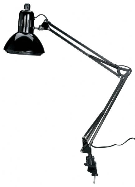 Alvin Swing-Arm Lamp Black With Fluorescent Bulb