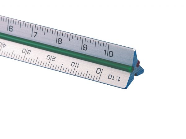 "Alvin 4"" Mini Aluminum Architect Triangular Scale"