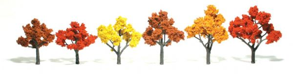 "Woodland Scenics 3""-5"" Ready Made Tree Value Pack Fall Colors"