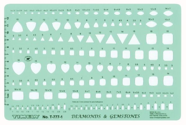 Timely Timely Gemstone Template: Set of 2: drafting template