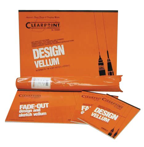 "Clearprint 1000HTS Series 18"" X 24"" Vellum Title Block/Border 100-Sheet Pack"