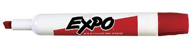 Expo® Dry-Erase Broad-Tip Marker Red