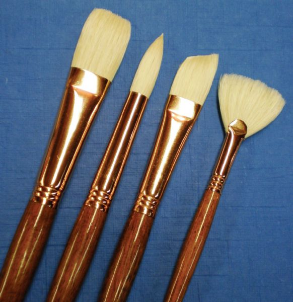 Princeton™ Best Refine Natural Bristle Oil and Acrylic Brush Round 8 : Best, Long Handle, Bristle, Natural, Round, Acrylic, Oil