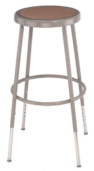 "National Public Seating Corp 25"" - 32.5"" Adjustable Basic Stool"