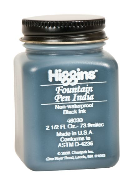 Higgins Inks Fountain Pen India Ink