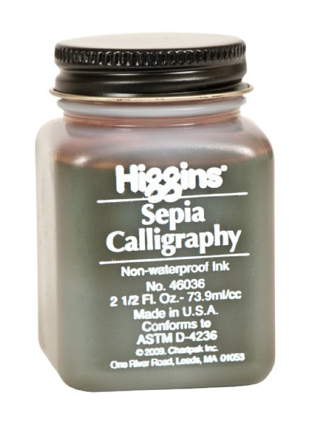Higgins Inks Non-Waterproof Sepia Calligraphy Ink