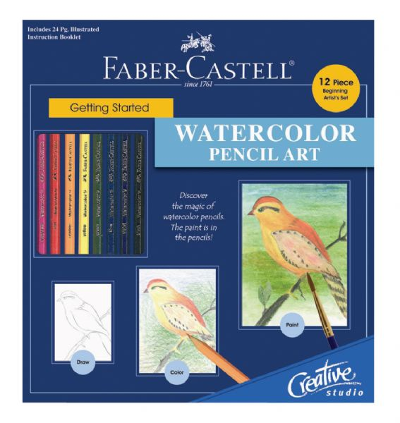 Faber-Castell Creative Studio Getting Started Watercolor Pencil Art Set