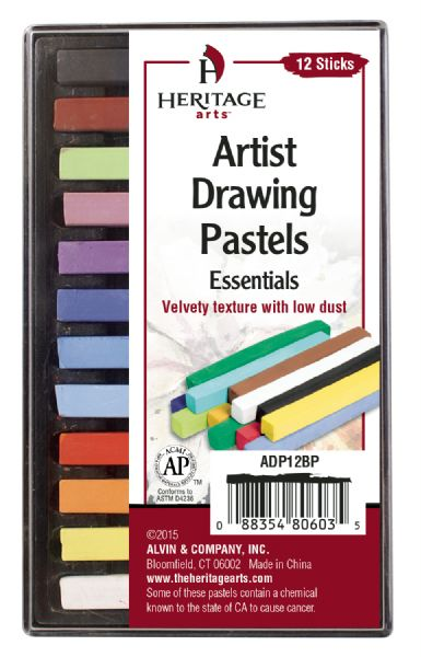Heritage Arts Artist Drawing Pastels Essential 12-Color Set
