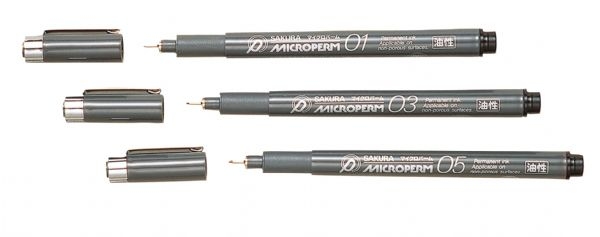 Microperm® Permanent Black Fine Line Pen .45mm