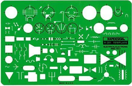 Rapidesign Rapidesign Electric/Electronic Symbols: drafting template
