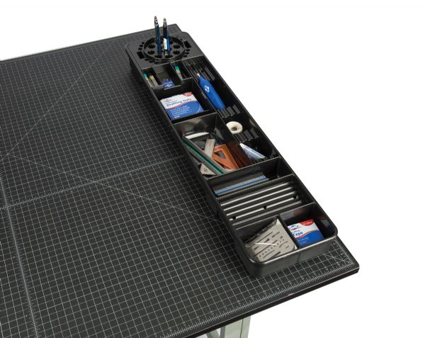 Alvin Black Table And Desktop Storage Tray