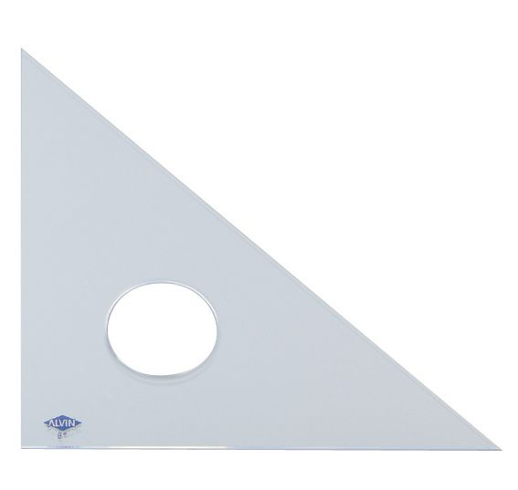 "Alvin® 4"" Clear Professional Acrylic Triangle 45°/90°: 45/90, Clear, Acrylic, 4"", Triangle"