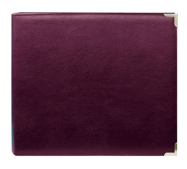 "Pioneer 12"" X 12"" 3-Ring Scrapbook Binder Burgundy Oxford"