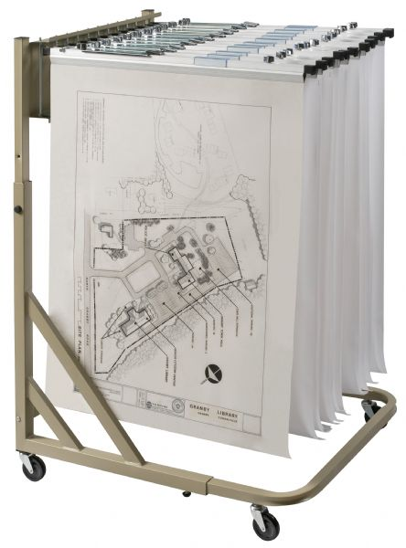 Alvin Mobile Pivot Rack For Blueprints