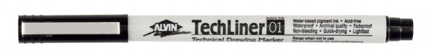 Alvin® TechLiner Technical Drawing Marker .1mm: Black/Gray, .1mm, Fine Nib, Technical